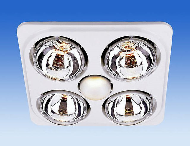 Ceiling Mounted Bathroom Heat Lamp