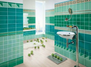 creative bathroom tile designs