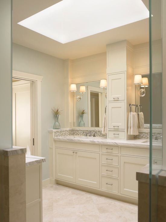 Traditional Bathroom with Vanity Lighting