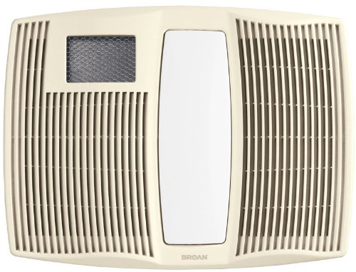 Broan QTX110HL Ultra Silent Series Bath Fan with Heater and Light